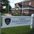 Darien Police Headquarters and Sign