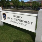 Darien Police Sign