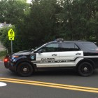 Darien Police SUV on Road