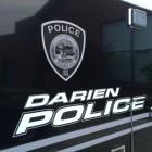 Darien Police Department Side Van