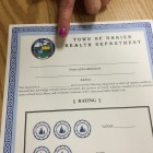 Health Department Certificate Form
