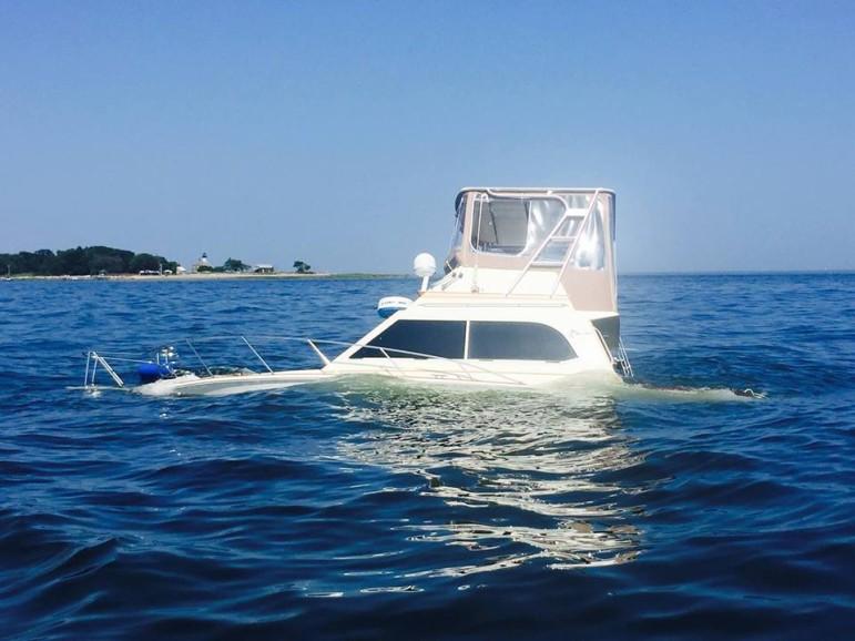 Norwalk Boat Greens Ledge July 11 2015