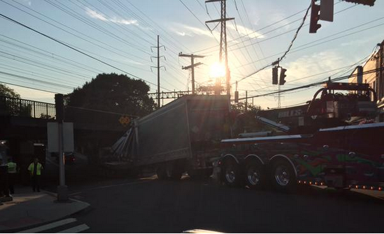 Truck Underpass Darien July 17