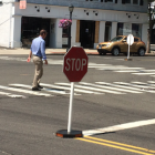 Darien Police Stop Sign