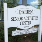 Darien Senior Activities Center sign