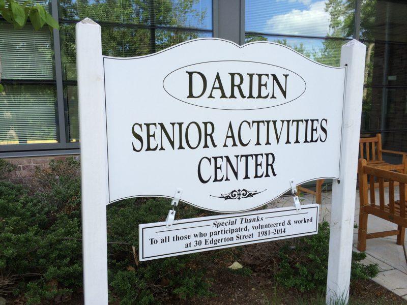 Darien Senior Activities Center sign