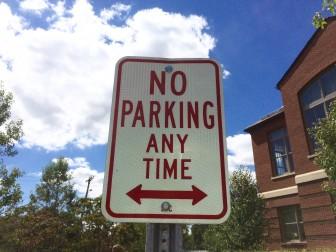 No Parking Darien Library