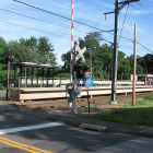 Talmage Hill Railroad Station Crossing