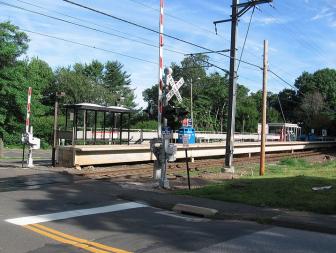 Talmage Hill Railroad Station Crossing