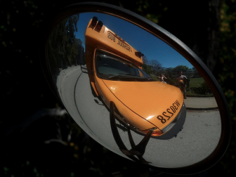Ingrid Taylar Flickr School Bus in Mirror