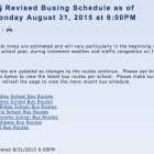 Revised Bus Schedule Post