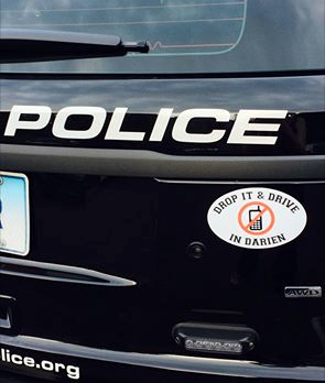Darien patrol cars now have the stickers.
