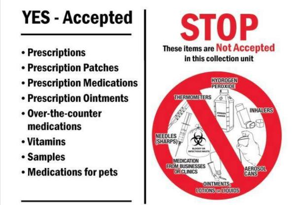 Prescription Drug Drop-off Rules