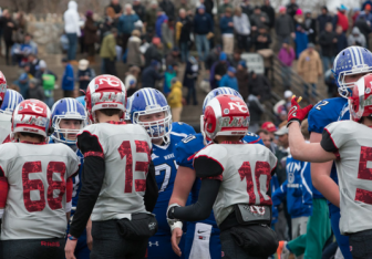 After the 2014 Turkey Bowl (Darien Athletic Foundation photo)
