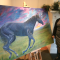 Gigi Barrett painting horse