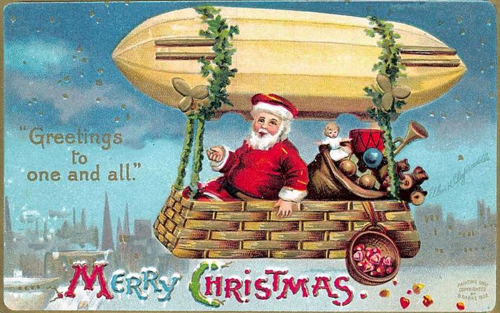 1909 Christmas postcard