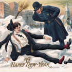 New Year's Day Postcard