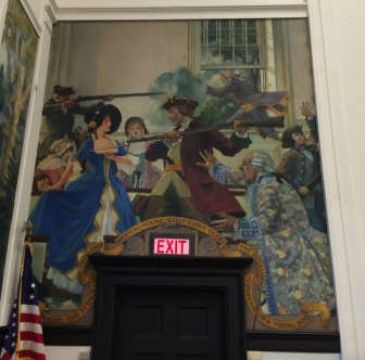 Town Hall Sally Dibble mural