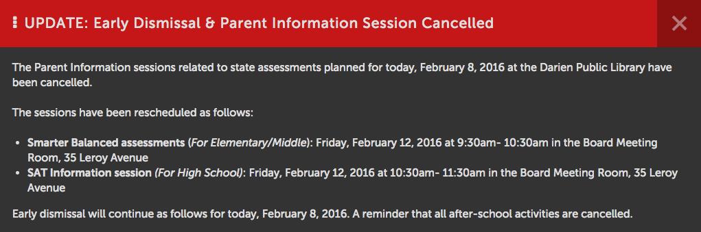 rescheduling dps 2-8-16