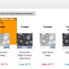 NWS forecast 6:56 am 2-8-16