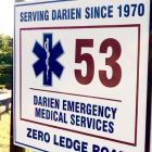Darien EMS - Post 53 sign 4-3-16