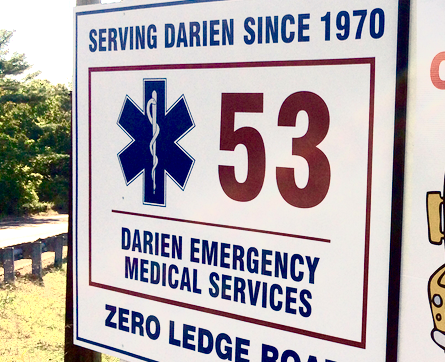 Darien EMS - Post 53 sign 4-3-16