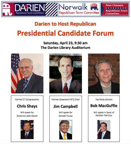Poster GOP Presidential Candidate Forum 4-23-16