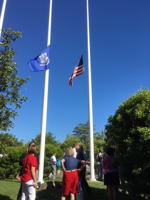Flags half staff Flag Day 6-14-16
