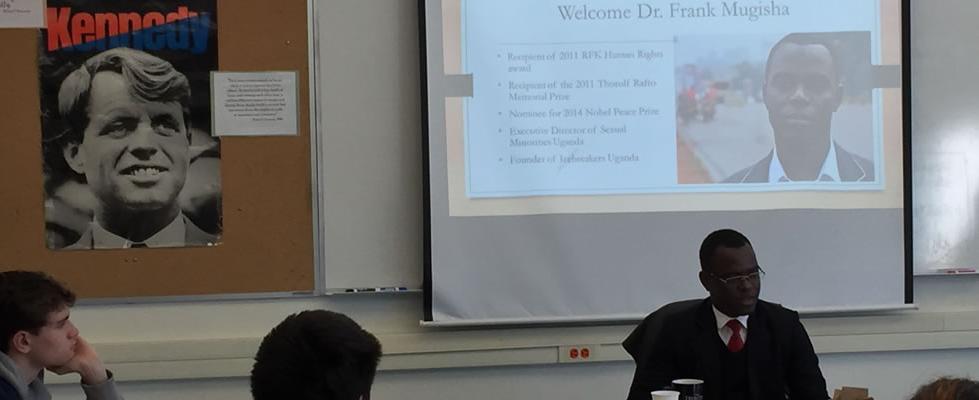 Frank Mugisha visits DHS 6-3-16