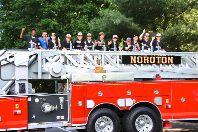 NFD truck with Fireballs Little League Team 6-13-16