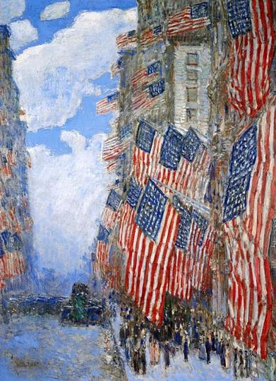 Childe Hassam 1916 flags 6-14-16