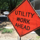 Utility Work Ahead sign 6-15-16