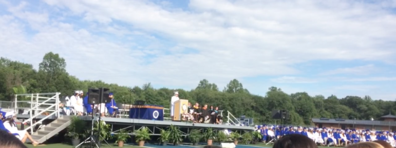 What graduation looked like from the second row of seats.