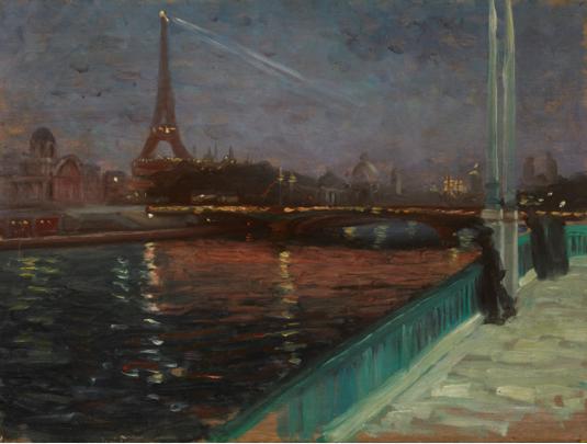 Nocturne, Paris by Alfred Maurer Bruce Museum 7-9-16