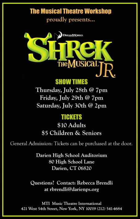 Shrek Jr. Musical DHS 7-29-16