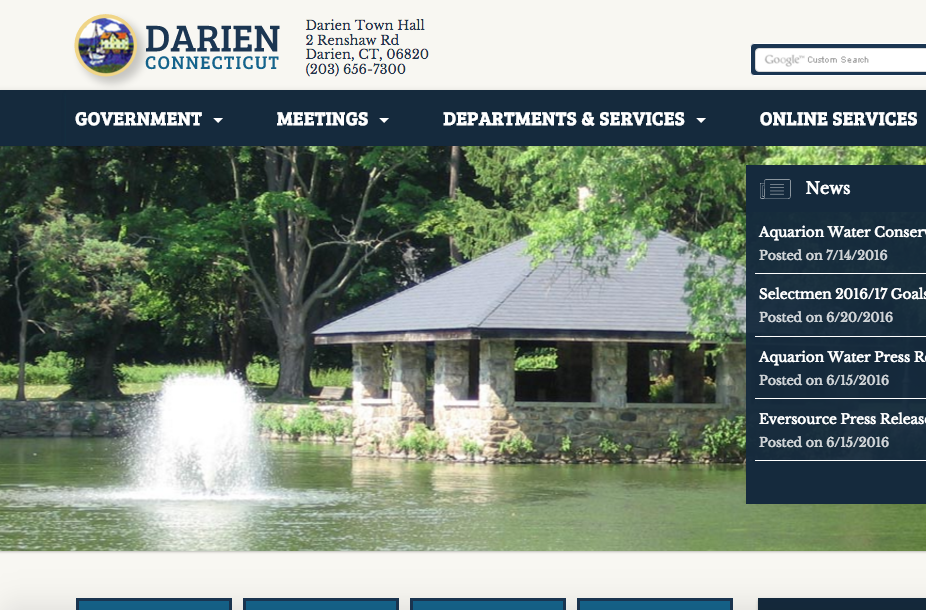 Town Government Website 8-2-16