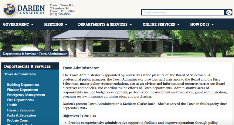 Town Administrator Web Page NEW 8-2-16