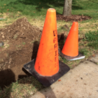 Darien Department of Public Works Cone Sidewalk