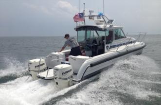 Darien Police Marine Unit boat 8-17-16