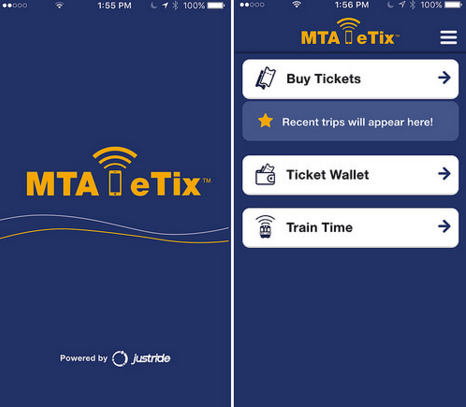 MTA eTix customer app