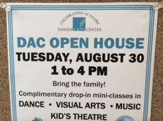 Darien Arts Center Open House poster 8-23-16