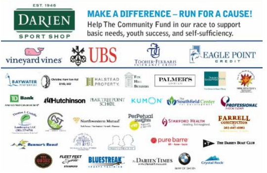 Darien Road Race 2016 sponsors 8-26-16