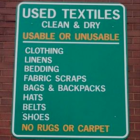 Textiles recycling Darien Recycling Center 8-27-16