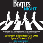 Beatles Night poster 9-18-16