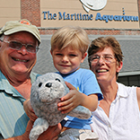 Grandparents weekend Maritime Aquarium 9-9-16