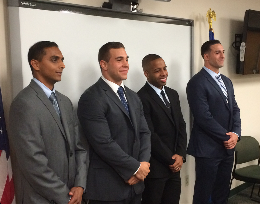 New Recruits Darien Police Department 9-19-16