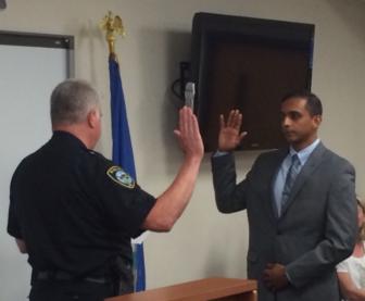 Neil Nair sworn in Darien Police Department 9-19-16