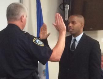 Jeffrey Brown sworn in Darien Police Department 9-19-16
