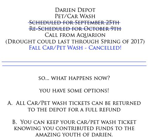 Pet Wash Car Wash announcement 9-28-16