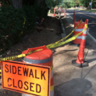 Sidewalk Closed sign 910-31-16